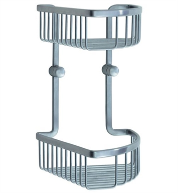 Smedbo LS377 Loft Soap Basket Corner 2 Level in Brushed Chrome