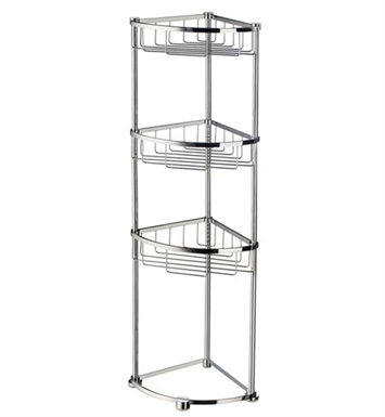 Smedbo DK2051 Sideline Soap Basket Free Standing in Polished Chrome
