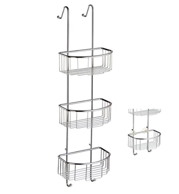 Smedbo DK1046 Sideline Soap Basket Straight 3 Level in Polished Chrome