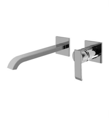 "Graff G-6236-LM38W-PN Qubic 9 1/4"" Single Handle Wall Mount Widespread Bathroom Sink Faucet With Finish: Polished Nickel And Rough / Valve: Rough"