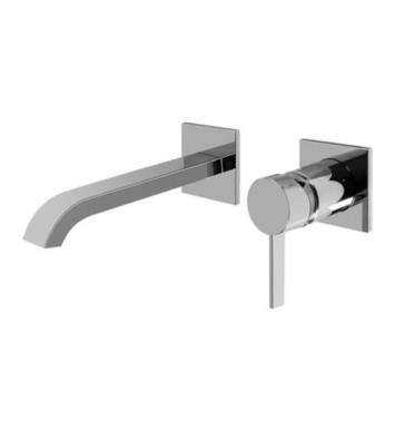 "Graff G-6235-LM39W-SN Qubic Tre 8"" Single Handle Wall Mount Widespread Bathroom Sink Faucet With Finish: Steelnox (Satin Nickel) And Rough / Valve: Rough"