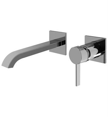 "Graff G-6235-LM39W-PC Qubic Tre L 8"" Wall Mounted Lavatory Faucet with Single Handle With Finish: Polished Chrome"