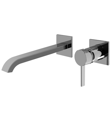 "Graff G-6236-LM39W-PC Qubic Tre L 9 3/4"" Wall Mounted Lavatory Faucet with Single Handle With Finish: Polished Chrome"