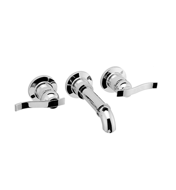 "Graff G-2130-LM20B-PN Bali L 7 1/2"" Wall Mounted Lavatory Faucet With Finish: Polished Nickel"