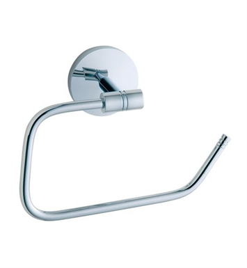 Smedbo NK341 Studio Toilet Roll Euro Holder Without Lid in Polished Chrome