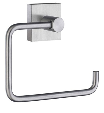 Smedbo RS341 House Toilet Roll Euro Holder Without Lid in Brushed Chrome