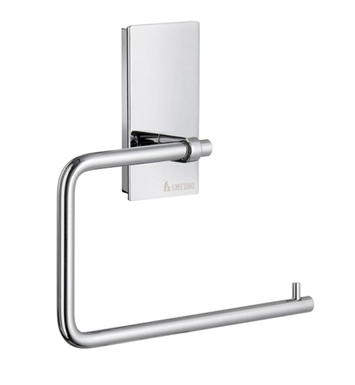 Smedbo ZK341 Pool Toilet Roll Euro Holder Without Lid in Polished Chrome