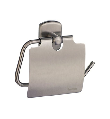 Smedbo C3414N Cabin Toilet Roll Euro Holder With Lid in Brushed Nickel