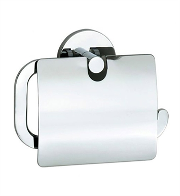 Smedbo LK3414 Loft Toilet Roll Euro Holder With Lid in Polished Chrome