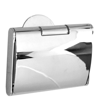 Smedbo YK3414 Time Toilet Roll Euro Holder With Lid in Polished Chrome
