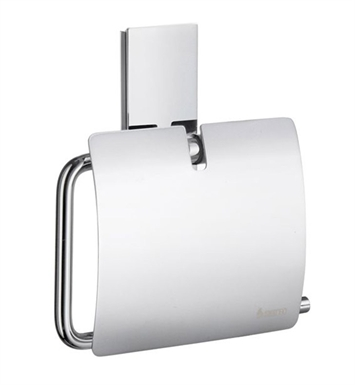 Smedbo ZK3414 Pool Toilet Roll Euro Holder With Lid in Polished Chrome