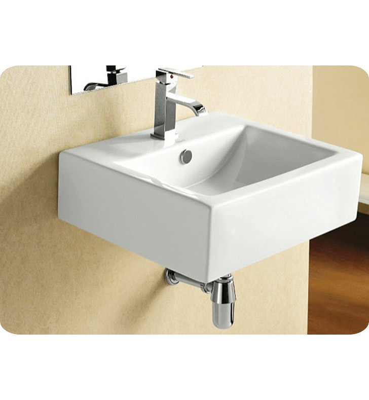 Sink Attached To Wall : CA4034 Nameeks Caracalla Wall Mounted Vessel Bathroom Sink CA4034