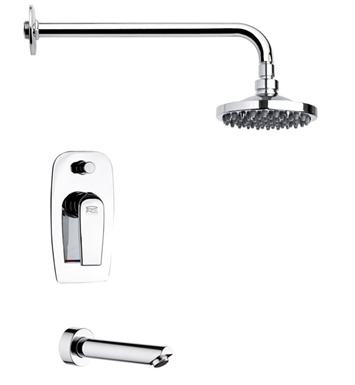Nameeks TSF2038-14 Remer Tub and Shower Faucet With Finish: Black