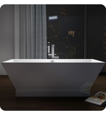 Neptune WISHR2 Wish R2 Freestanding Rectangular Bathroom Tub