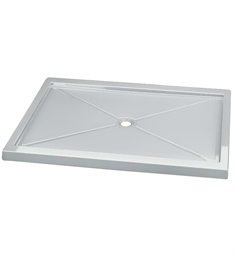 Fleurco Quad Acrylic In Line Center Drain Rectangular Shower Base