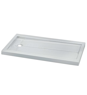 Fleurco ABF3260-13 Quad In Line Acrylic Rectangular Shower Base with Side Drain With Finish: Biscuit