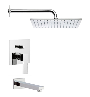 Nameeks TSF2121-14 Remer Tub and Shower Faucet With Finish: Black