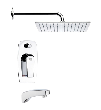Nameeks TSF2123-14 Remer Tub and Shower Faucet With Finish: Black