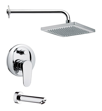 Nameeks TSF2129-14 Remer Tub and Shower Faucet With Finish: Black