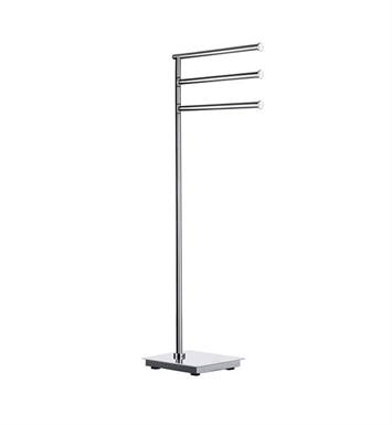 Smedbo FK604 Outline Towel Rail Free Standing in Stainless Steel Polished