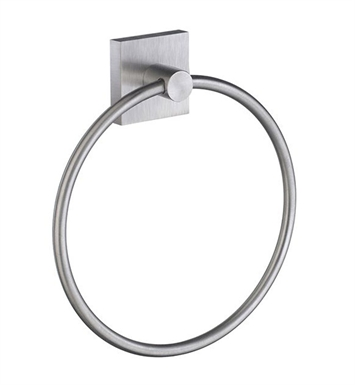 Smedbo RS344 House Towel Ring in Brushed Chrome