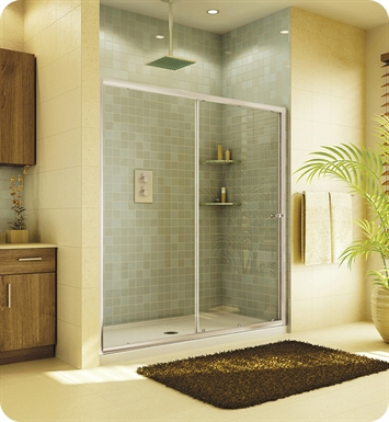 "Fleurco EAL2-48  Signature Amalfi In Line 48"" Semi Frameless Sliding Shower Door"