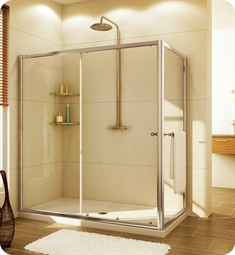 Fleurco Signature Amalfi In Line RP Semi Frameless Sliding Door with Return Panel