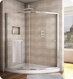 Fleurco Signature Amalfi Slice Semi Frameless Curved Sliding Shower Door
