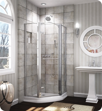 "Fleurco EWN38  Banyo Windsor 38"" Framed Neo Angle Pivot Shower Door"