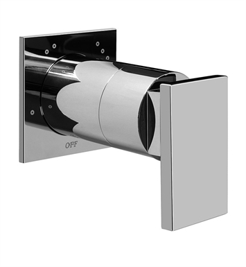 Graff G-8066-LM31S-PC/BK Solar Structure Transfer Valve Trim Plates and Handle With Finish: Architectural Black w/ Chrome Accents