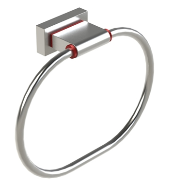 Rubinet 7DRT0MBWH R10 Towel Ring With Finish: Main Finish: Matt Black | Accent Finish: White