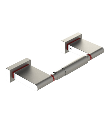 Rubinet 7ERT0SCMW R10 Toilet Paper Holder With Finish: Main Finish: Satin Chrome | Accent Finish: Matt White