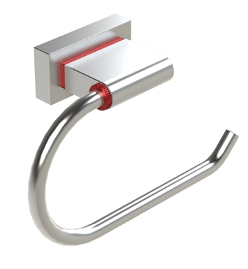 Rubinet 7FRT0CHBB R10 Toilet Paper Holder With Finish: Main Finish: Chrome | Accent Finish: Bright Brass