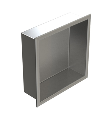 "Rubinet 7TRT1PNPN R10 12""x12"" Recessed Wall Niche With Finish: Main Finish: Polished Nickel 