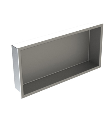 "Rubinet 7TRT2MBMB R10 12"" x 24"" Recessed Wall Niche With Finish: Main Finish: Matt Black 
