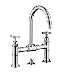 Hansgrohe Axor Montreux Widespread Faucet with Cross Handles, Bridge Model