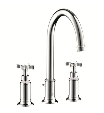 "Hansgrohe 16513821 Axor Montreux 6 7/8"" Double Cross Handle Widespread/Deck Mounted Bathroom Faucet with Pop-Up Assembly With Finish: Brushed Nickel"