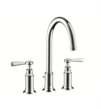 "Hansgrohe 16514831 Axor Montreux 6 7/8"" Double Lever Handle Widespread/Deck Mounted Bathroom Faucet with Pop-Up Assembly With Finish: Polished Nickel"