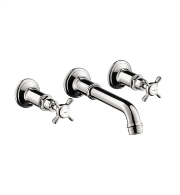 Hansgrohe 16532001 Axor Montreux Wall Mounted Widespread Faucet with Cross Handles With Finish: Chrome