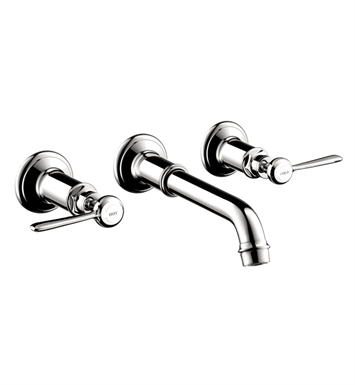 Hansgrohe 16534821 Axor Montreux Wall Mounted Widespread Faucet with Lever Handles With Finish: Brushed Nickel