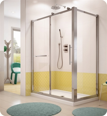 Fleurco FSR Forte Sorrento In Line Door and Panel with Return Panel