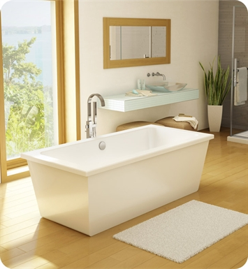Fleurco BLE6833-18-11 Aria Legato Acrylic Bathtub With Drain and Overflow Finish: Chrome