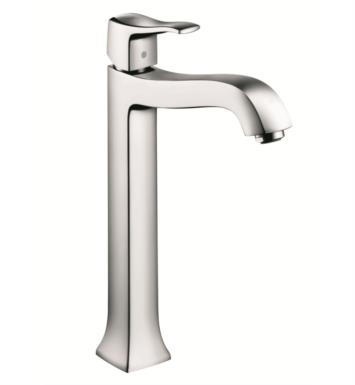 "Hansgrohe 31078831 Metris C 7 1/2"" Single Handle Deck Mounted Tall Bathroom Faucet with Pop-Up Assembly With Finish: Polished Nickel"