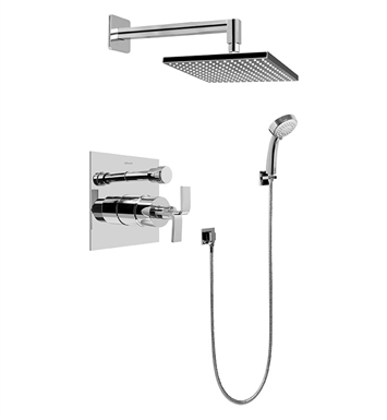 Graff G-7296-C9S-PC Contemporary Pressure Balancing Shower Set With Finish: Polished Chrome