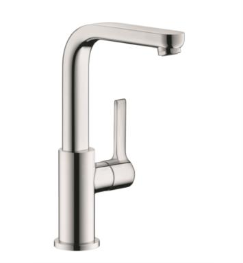 "Hansgrohe 31161821 Metris S 5 3/4"" Single Handle Deck Mounted Bathroom Faucet with Pop-Up Assembly With Finish: Brushed Nickel"