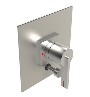 Rubinet 2YRTLRDSN R10 Pressure Balance Valve Only with Diverter & Stops With Finish: Main Finish: Red | Accent Finish: Satin Nickel