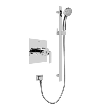 Graff G-7246-LM40S-PC Contemporary Pressure Balancing Shower Set With Finish: Polished Chrome