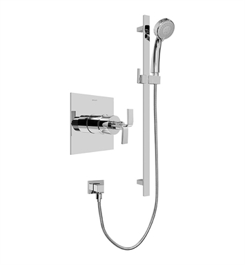 Graff G-7246-C9S-PC Contemporary Pressure Balancing Shower Set With Finish: Polished Chrome