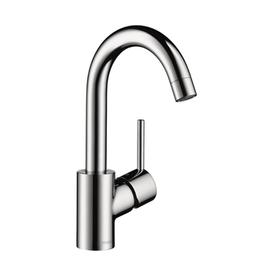 Hansgrohe 32070001 Talis S Single Hole Faucet, High Swing Spout With Finish: Chrome