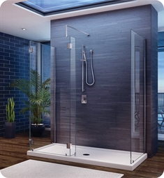 Fleurco Evolution 5' Walk in 3-Sided Shower Enclosure V56308